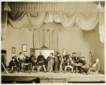 Saloon scene or cast photo from an unidentified melodrama at the Santa Fe Community Theater, Santa...