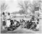 Group of students outside, New Mexico