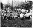 Group at picnic, possibly at the New Mexico Bus Drivers Institute, Silver City, New Mexico?