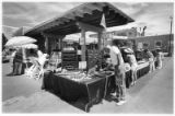 Outdoor market at corner of Water Street and Old Santa Fe Trail, Santa Fe, New Mexico