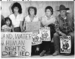 Demonstrators advocate for protection of water from land development, Santa Fe, New Mexico