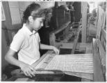 Anna Serrano, age 12, weaves at Tierra Wools, Los Ojos, New Mexico