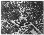 Aerial view of the Maytag mansion, Santa Fe, New Mexico