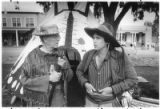 Leonard Pritikin, left, and Leff Hengesbaugh in period dress at the Mountain Man Rendezvous at...