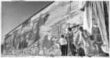 Zara Kriegstein dedicates the mural at the State Archives building on Guadalupe Street, Santa Fe,...