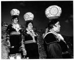 Three Zuni olla bearers at the Gallup Ceremonial, Gallup, New Mexico