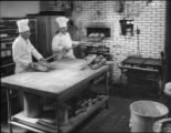 Baking bread, Cipriano Chaves second from left, La Fonda Hotel, Santa Fe, New Mexico