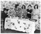 Pansy Stockton and hostesses serving refreshments at the USO Club, Santa Fe, New Mexico