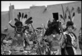 Buffalo dancers on Feast Day, San Ildefonso Pueblo, New Mexico