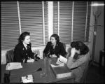 Women working in the Office of the Director of the Civilian Personnel Division, 12th Naval...