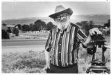 Ansel Adams, renowned photographer, in northern New Mexico