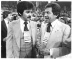 Eric Serna, left, and Jerry Apodaca at the 1982 Democratic National Convention
