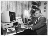 Istvan Fehervary, Publisher of Pro Libertate, in his office