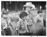 Don Hodel, U.S. Secretery, Department of the Interior, with Boy Scouts