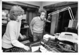 Alan Hutner and Luann Hutner broadcast their Sunday morning radio program at KBAC-FM studios