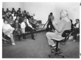 George Kennedy, film and television actor, meets with Santa Fe Community College students as part...