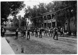 Roswell Cadets welcome to William Jennings Bryan (on upper porch) at Gilkeson Hotel, Roswell, New...