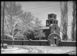 Winter scene at Guadalupe Church