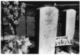 Double headstones for Alisandro Moises Padilla / Alex M. Padilla
