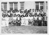 Group portrait of students, probably Santa Fe Indian School