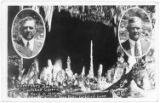 Postcard celebrating Governor's Day at Carlsbad Caverns, New Mexico, with inset portraits of...