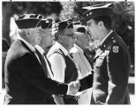 Major General Edward Baca, National Guard commander at Santa  Fe National Cemetery, Santa Fe, New...