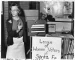 Bernie Beenhouwer of the League of Women Voters of Santa Fe County, Santa Fe, New Mexico
