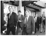 Republican presidential candidate George H. Bush on San Francisco Street, Santa Fe, New Mexico...