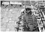 Joe Campos sells ladders and latillas at his home on Galisteo Street, Santa Fe, New Mexico