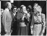 King Juan Carlos and Queen Sophia of Spain with Archbishop Robert Sanchez, Santa Fe, New Mexico