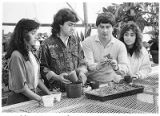 Fabian Chavez (second from right) teach horticulture at Santa Fe High School, New Mexico