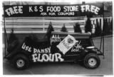 Car advertising K & S Food Store for parade