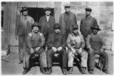 Railroad workers pose