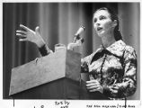 Anthropologist Jane Goodall speaking in Santa Fe, New Mexico