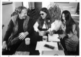 "Poets collaborating on ""The New Trinity"" joint piece, Mary McGinnis (center) with John..."