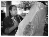 Earnest Mirabal, sculptor, at his Cloud Eagle Studios