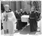 Funeral procession for Father Reynaldo Rivera, rector of St. Francis Cathedral, murdered in August...