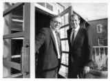 Michael Riccards (L),  president of St. Johns College in Santa Fe, with William Dyal (R),...