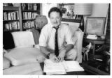 Roger Morris, author and journalist in his Santa Fe home office