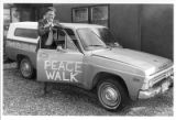 Richard Polese, promoting a Santa Fe to Los Alamos peace walk