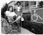 Mary Pierce and Judith Meyers work for access for the disabled