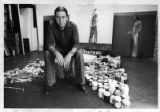 John Nieto in his art studio
