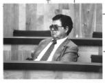 Emilio Naranjo, Rio Arriba County Manager, waits to testify in court