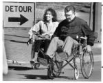Mayor Sam Pick races Mary Pierce, chair of Mayor's committee on Concern for the Handicapped