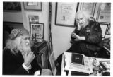 Bill Tate, artist, with fellow painter Tommy Maccione (right)