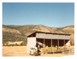 Filling the hay barn at Cimarroncita Ranch Camp