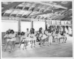 "The ""C"" dancing group rehearsing at Cimarroncita Ranch Camp"