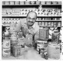 Joe [Joseph E.] Valdes, mayor of Santa Fe,  1972-1976, at his paint and art supply store, Santa...