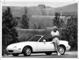 Paul Wykert, recreation planner with the National Park Service, with his new Mazda Miata sports car
