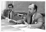 Chet Walters (R), district attorney and Jim Hall (L), assistant district attorney, Santa Fe, New...